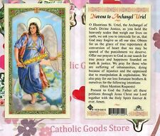 St. Uriel - Novena to Saint. Uriel the Archangel  - Laminated Holy Card