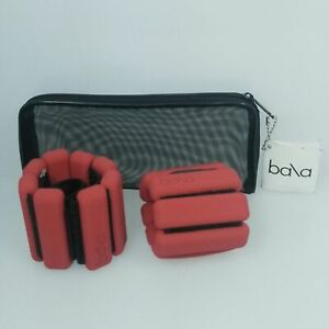 Bala Bangles Adjustable Wrist/Ankle Weights Red