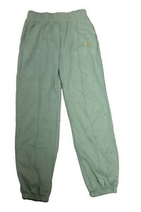 Nike Ladies Sweatpants Tracksuit Bottoms Green Golden SIZE S Loose Fit New