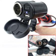 Motorcycle Waterproof GPS 1.5A USB Port Power Charger Cigarette Lighter Socket