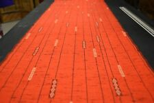 Japanese Woollen Fabric Red with Linear Design 1546