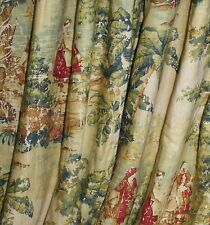 Covington Bosporus Toile Antique Red Fabric ROD POCKET VALANCE EXTRA WIDE custom