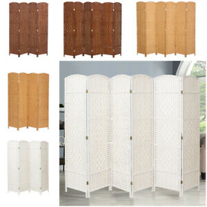 4/6  Panel Privacy Screen Room Divider Foldable Separator Weave Wicker Screens