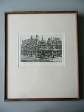 The Cross, Chester. Ray Allens Signed Etching. Listed.