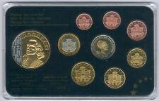Lot mit 9 Stücken - m .999 RHODIUM/Gold veredelte Medaille, Prestige-Satz UNC