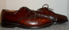 ALLEN EDMONDS BROWN LEATHER PLAIN TOE OXFORDS SIZE 9 EEE! FAST~FREE SHIPPING!
