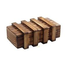 Magic Compartment Wooden Puzzle Box With Secret Drawer Brain Teaser #3YE