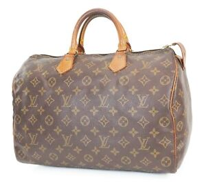 Authentic LOUIS VUITTON Speedy 35 Monogram Boston Handbag Purse #39035