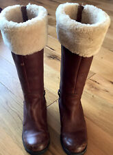 UGG SWELL TALL Womens Leather Knee High Winter Outdoor Boots Size 5.5 UK