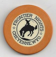 Frontier Nights Vintage, Illegal, Crest and Seal Poker Chip - Cheyenne, Wyoming