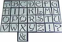 Shabby Chic vintage Alphabet letter stencil 45/37mm Uppercase wedding furniture