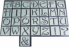 Shabby Chic vintage Alphabet letter stencil 45/37mm Uppercase wedding furniture