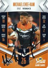 ✺Signed✺ 2018 WESTS TIGERS NRL Card MICHAEL CHEE-KAM
