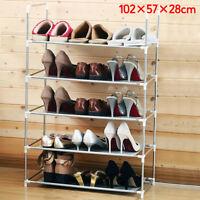 3, 4 & 5 Tier Metal Shoe Rack Storage Organizer Stand Shelf Holder Portable