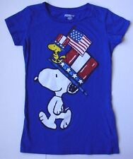 Girls Youth PEANUTS SNOOPY USA T shirt Top size large L