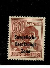 Germany-Russian Zone #10N14a (GE146) O/P brown Red, U,FVF,CV$125.00