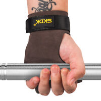 Leather Hand Grip Crossfit Anti-Skid Weight Lifting Palm Protector Gloves--