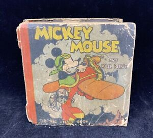 1933 MICKEY MOUSE THE MAIL PILOT Big Little Book Whitman Publishing Walt Disney