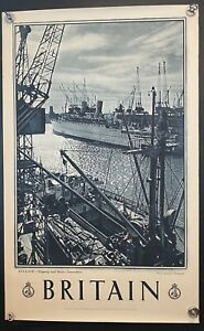 "1940's England Empress of Canada @ Shipping Docks Lancashire Poster 40"" X 25"""