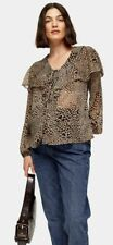 Topshop MATERNITY Animal Heart Print Blouse Size 8 BNWT