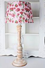 Tischlampe Tischleuchte Vintage Nostalgie Shabby Rosé Rosa Rosen E 27 A++ 42 cm