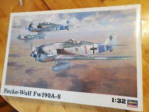 Hasegawa 1/32 Scale  Focke Wulf FW-190 A-8 Factory Sealed
