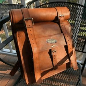 Leather Bag Men Large Compertment Backpack Genuine Travel Rucksack Hiking Bag