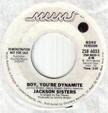 """Soul Crossover 70's Modern Soul 7""""-Jackson Sisters-Boy,You're Dynamite-Mums wdj"""