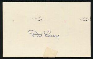 DON LARSEN (1953-1967 Yankees, Orioles, Giants, A's) -Autograph 3x5 1978 GPC