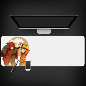 Naruto Anime Extended XXL Gaming Mouse Pad Mat 90x40cm Naruto + Jiraiya (White)
