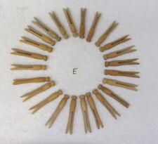 24 Round Head Clothes Pins Laundry Wood DIY Crafts Pinterest vintage
