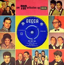 "7"" THE FOURYO'S Zeg niet nee CV TRAVIS AND BOB Tell Him No DECCA Dutch-Folk 1959"