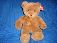 "Gund Tender Teddy Light Brown Golden Ribbon 17"" #6415"