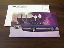 1967 CHEVROLET IMPALA COUPE ORIGINAL POSTCARD / 67 Chevy Brochure