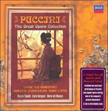Puccini - The Great Opera Collection (CD, Mar-2008, 15 Discs, Decca)