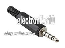 JACK 3.5 MM MACHO 4 pin-polos 3.5mm 4-pole Audio Jack Plug para soldar