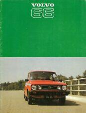 Volvo 66 1976-77 UK Market Sales Brochure GL Saloon Estate