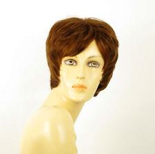 perruque femme 100% cheveux naturel châtain clair cuivré ref MALORIE 30