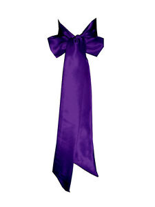PURPLE Satin Wedding Fancy Dress Party Ribbon Sash Belt Tie Band Bridesmaid Bow