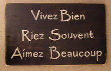 Live Well Love Much Laugh Often Sign Plaque French Country Chic Hp U-Pick Color