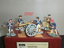 BRITAINS 17285 AMERICAN REVOLUTION 6LB CANNON GUN + CREW METAL TOY SOLDIER SET