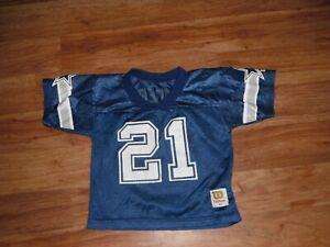 Vtg & Rare Dallas Cowboys Deion Sanders #21 WILSON Jersey Toddler 4T Football!!