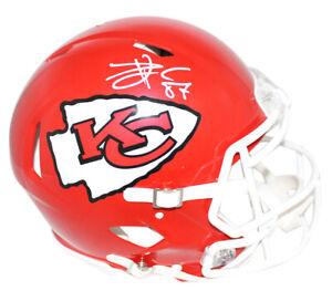 Travis Kelce Autographed Kansas City Chiefs Authentic Speed Helmet BAS 22487