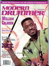 Modern Drummer Magazine December 1990 William Calhoun EX 041416jhe