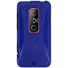 NEW BLUE MESH HARD SHELL CASE BACK COVER FOR HTC EVO 3D, HTC EVO V 4G