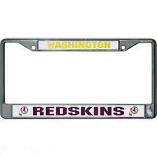 WASHINGTON REDSKINS CHROME METAL LICENSE PLATE FRAME NEW & OFFICIALLY LICENSED