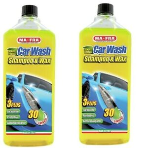 N°2 Car Wash Shampoo con cera 1000ml Lava Lucida Carrozzeria Auto MA-FRA