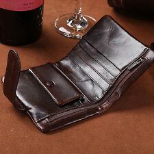 Vintage Men's Genuine Leather Wallet Card Holder Clutch Coin Slim Purse Pockets
