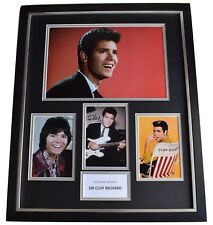 Cliff Richard SIGNED Framed Photo Autograph Huge display Music Memorabilia COA