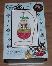 Disney Store Mickey Y Minnie Mouse Globo Decoración de Navidad de ornamento musical
